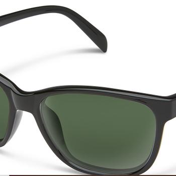 SunCloud Dawson Black Polarized Gray Green