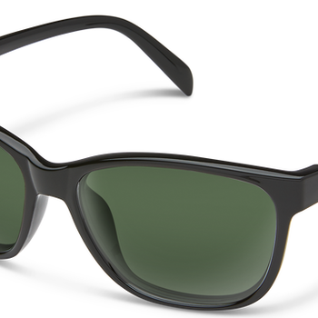 SunCloud Quest Black Polarized Gray Green