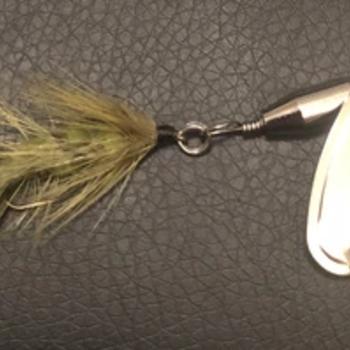 Magooster Inline Spinner - 1/8 oz  Olive Fly
