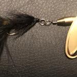 Magooster Inline Spinner - 1/8 oz  Black Fly