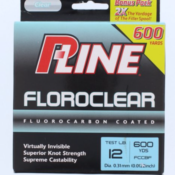 P-Line P-Line FCCBF-12 Floroclear Clear 12 fLB 600 yrds