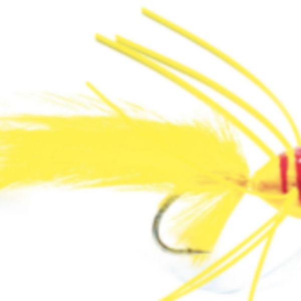 Fulling Mill Bass Popper Yellow/Red S1/0