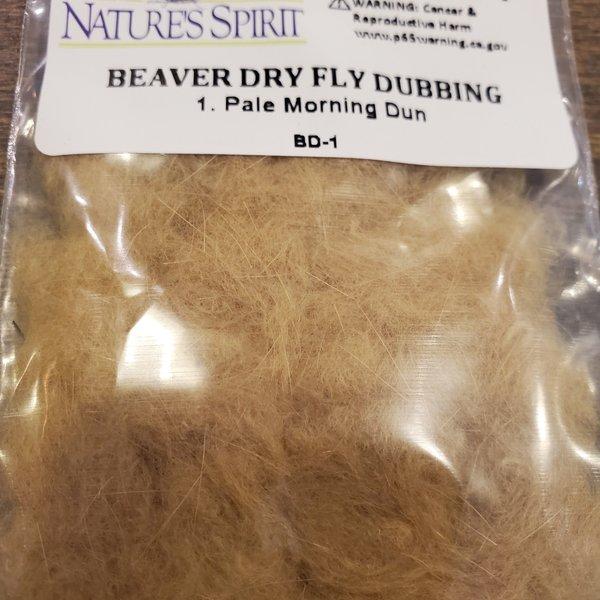 Natures Spirit BEAVER DRY FLY DUBBING - PALE MORNING DUN