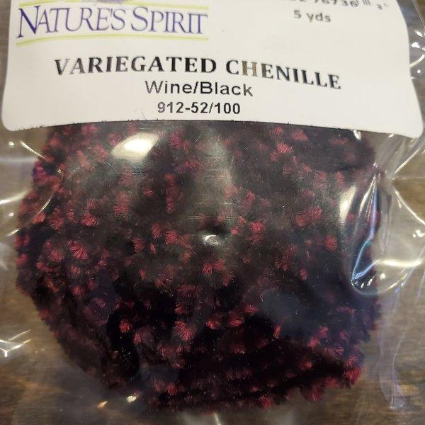 Natures Spirit VARIEGATED CHENILLE - WINE/BLACK 5 YRDS
