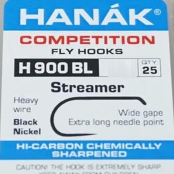 Hanak Hooks Streamer  Model 900, Sz 8  25 pk