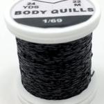 Hends BODY QUILLS – 24  YARD SPOOL - Black
