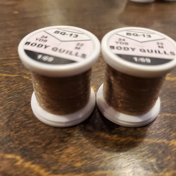 Hends BODY QUILLS – 24  YARD SPOOL - Yellow Olive Light