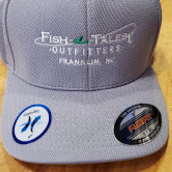 Queensboro Fish Tales Hat -Sport Tek Flexfit Embroidered - Grey Heather