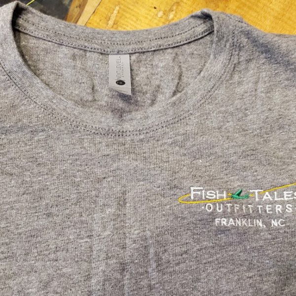 Next Level Apparel Fish Tales T Shirt Embroidered -