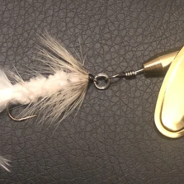 Magooster Inline Spinner - 1/8 oz  White Fly
