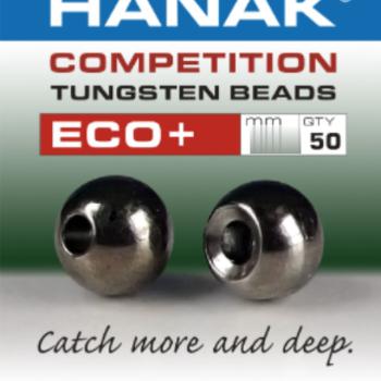 Hanak Tungsten Beads, Eco+ Black Nickel, 3.8 mm, 50 pcs