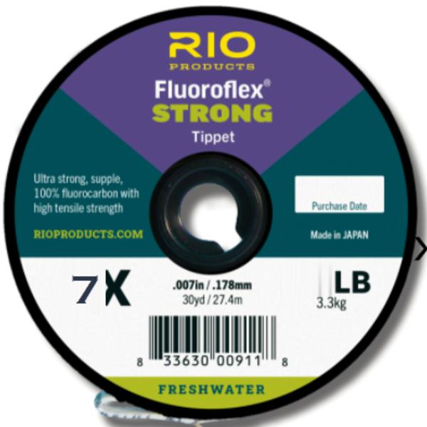 RIO Fluoroflex Strong Tippet 7X 30 YRDS
