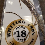 Whiting 100 PACK, size 18 -   Grizzly/March Brown