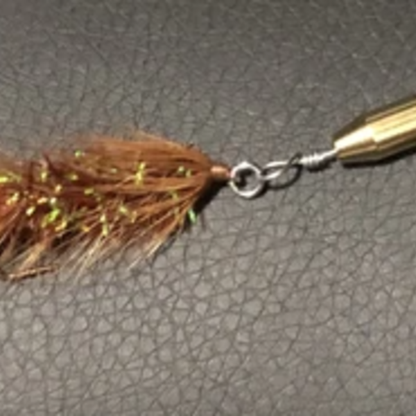 Magooster Inline Spinner - 1/4 oz Brown Fly
