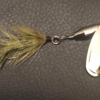Magooster Inline Spinner - 1/4 oz Olive Fly