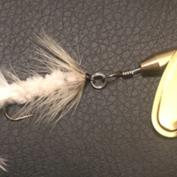 Magooster Inline Spinner - 1/4 oz White Fly