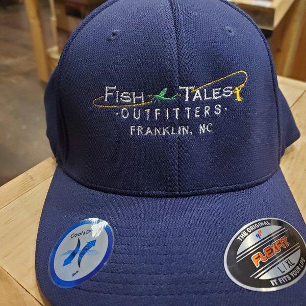 Fish Tales Hat- Sport Tek Flexfit Navy