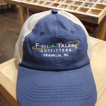 Fish Tales Hat- Denim Blue Trucker