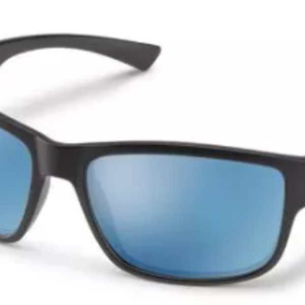 SunCloud SUSPECT MATTE BLACK POLARIZED BLUE MIRROR