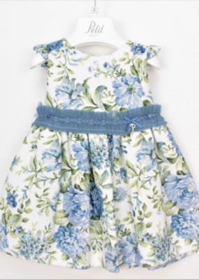 PETIT - Dress Blue Floral