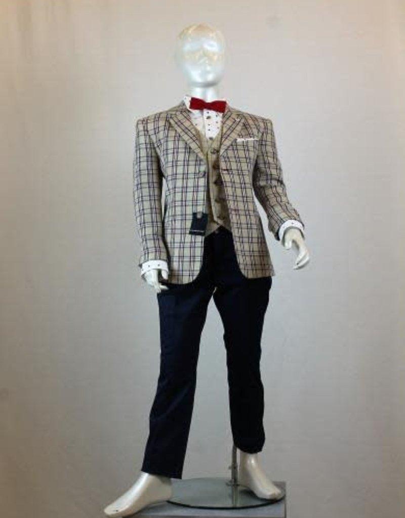 Colorichiari COLORICHIARI - Boy's Suit with Vest - Red Bowtie