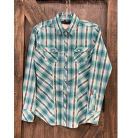 LADIES ROCK&ROLL SHIRT TEAL  S