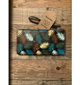 FEATHER PRINTED WALLET