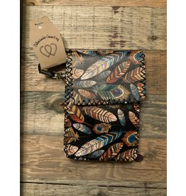 FEATHER PRINTED BLACK CROSSBODY