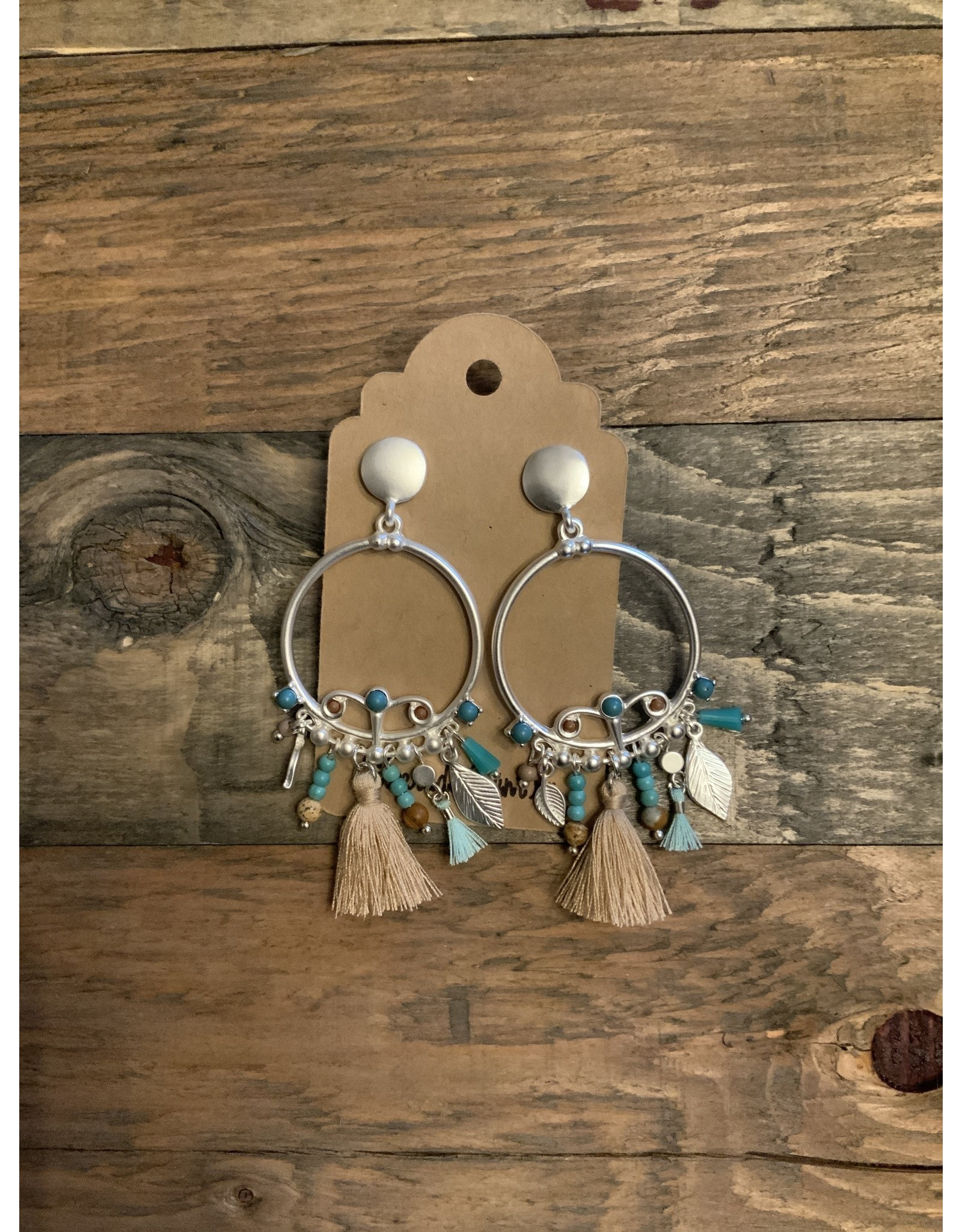 Dangle Earrings  Turquoise/brushed silver