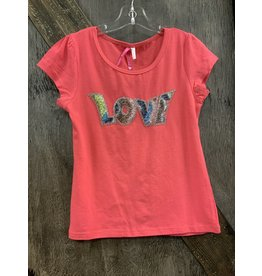 GIRL'S CORAL LOVE PATCH SHIRT