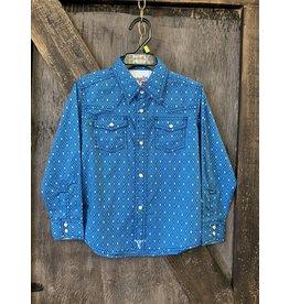 BOY'S BLUE BJC274B WRANGLER SHIRT