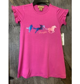 GIRLS PINK WRANGLER TSHIRT DRESS