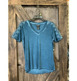 LADIES BLUE LACE WRANGLER TOP