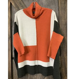 LADIES OVERSIZED TURTLE NECK SWEATER