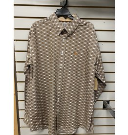 Cinch MEN'S MTW1105256 BROWN DIAMONDS SHIRT CINCH
