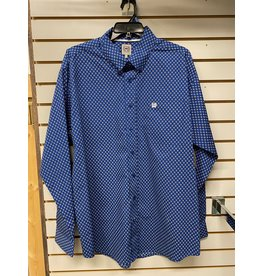 Cinch MEN'S MTW1105245 BLUE DIAMONDS SHIRT CINCH