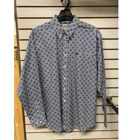 Cinch MEN'S MTW1105255 BLUE SQUARE  SHIRT CINCH