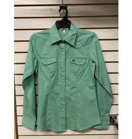 Cinch LADIES MSW9201023 GREEN SHIRT CINCH