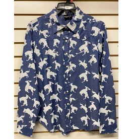 CRUEL GIRL LADIES CTW7325003 BLUE HORSE SHIRT CRUEL GIRL