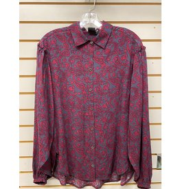 CRUEL GIRL LADIES CTW7257003 BURGANDY RAYON SHIRT CRUEL GIRL