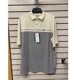 Cinch MEN'S MTK1869001 TAN/GREY POLO SHIRT CINCH