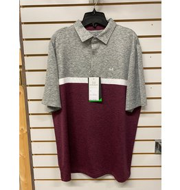 Cinch MEN'S MTK1870001 BURGANDY/GREY POLO SHIRT CINCH