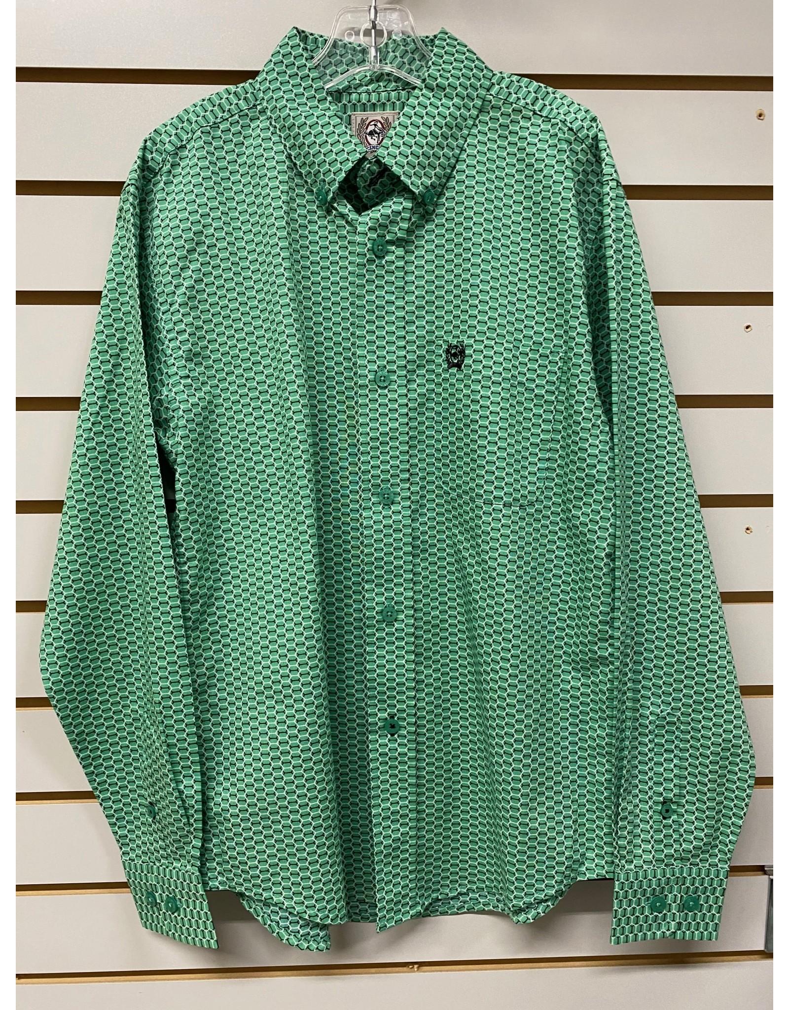 Cinch BOY'S MTW7060252 GREEN SHIRT CINCH