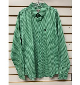 Cinch BOY'S MTW7060252 GREEN SHIRT CINCH