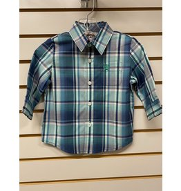 Cinch TODDLER MTW7062257 GREEN PLAID SHIRT CINCH