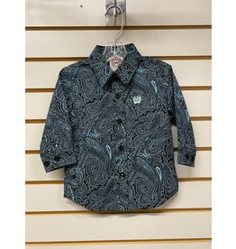 Cinch TODDLER MTW7062241 GREEN PAISLEY SHIRT CINCH