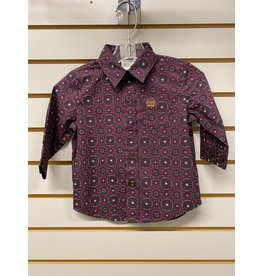 Cinch TODDLER MTW7062244 BURGANDY SHIRT CINCH