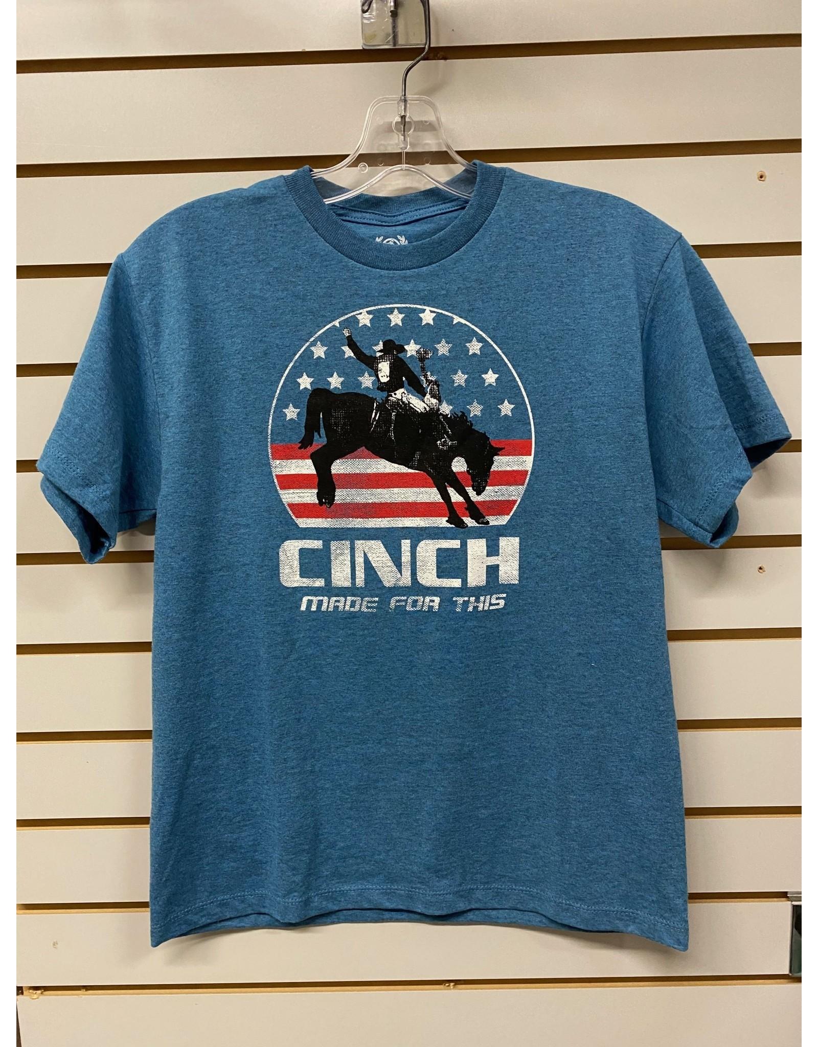 Cinch BOY'S MTT7670103 BLUE T-SHIRT CINCH