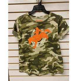 CRUEL GIRL LADIES CTR7261006 CAMO GREEN T-SHIRT CRUEL GIRL
