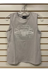 CRUEL GIRL LADIES CTK7232001 GREY SLEEVELESS T-SHIRT CRUEL GIRL